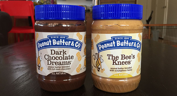 Peanut Butter & Co.'s Dark Chocolate Dreams and The Bees Knees