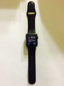 Front of Apple Watch after six months of wear
