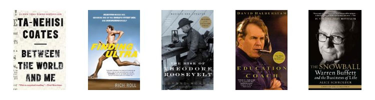 Recommended books on Audible: Ta-Nehisi Coates, Rich Roll, Theodore Roosevelt, Bill Billichick, Warren Buffett