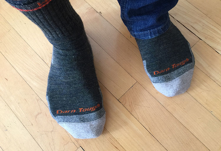 Darn Tough wool socks and how they fit