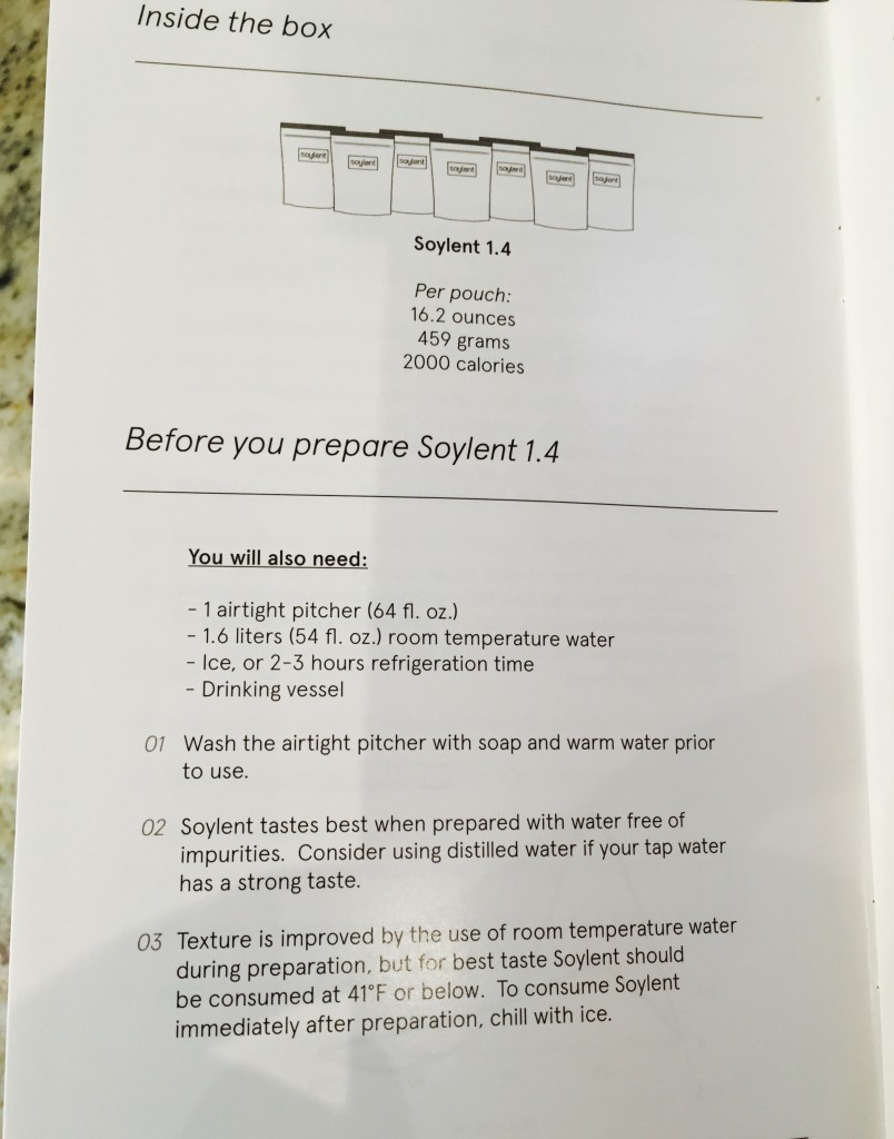 Soylent preparation