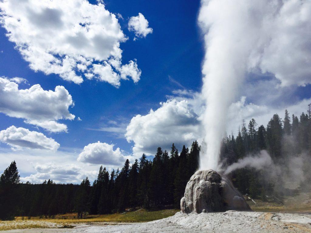 Lone Star Geyser in Yellowstone