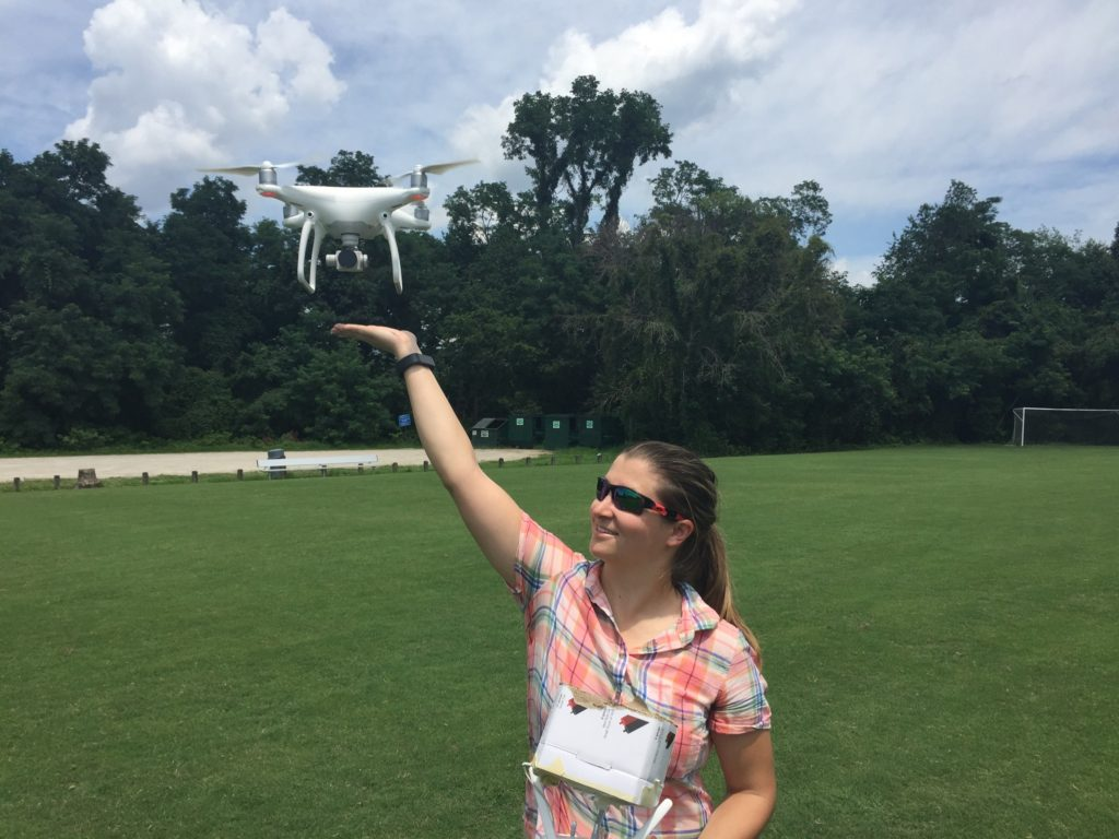 Tom's wife showing off her drone levitation abilities