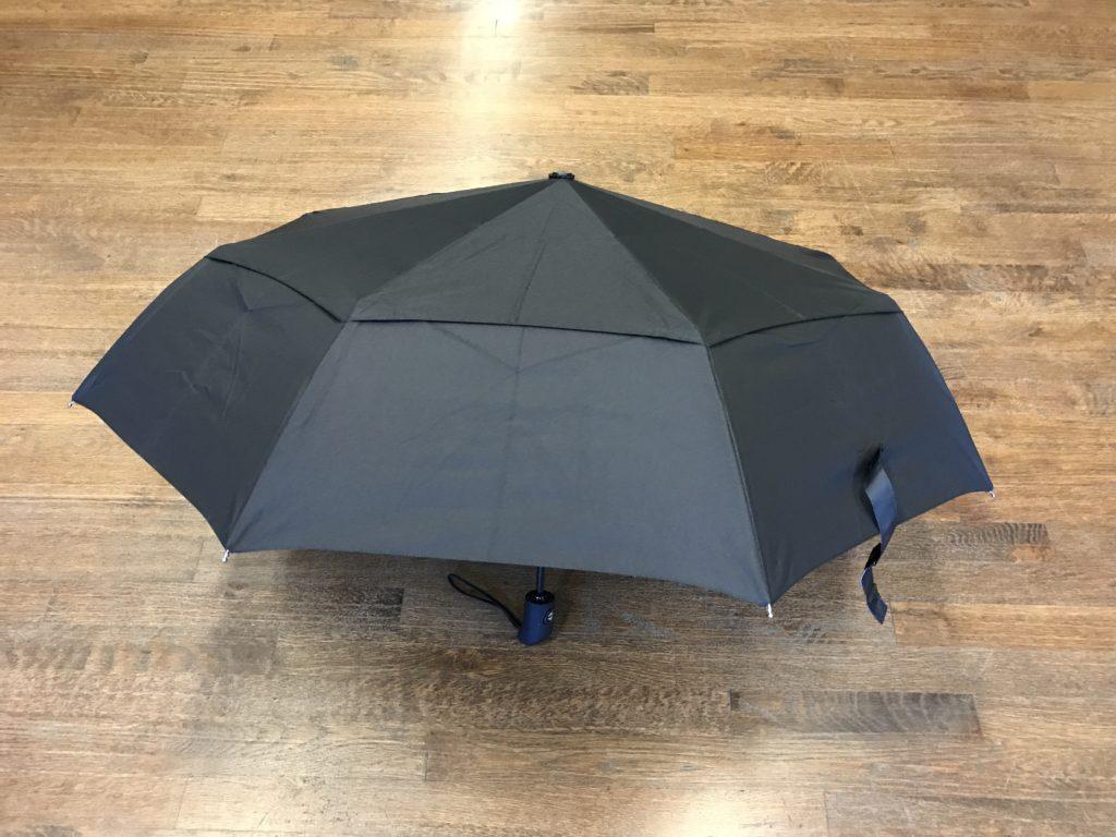 The Amazonbasics Automatic Travel Umbrella With Wind Vent